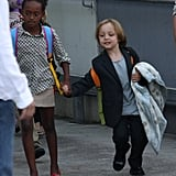 Zahara and Knox held hands at Sydney Airport on Sept. 6.