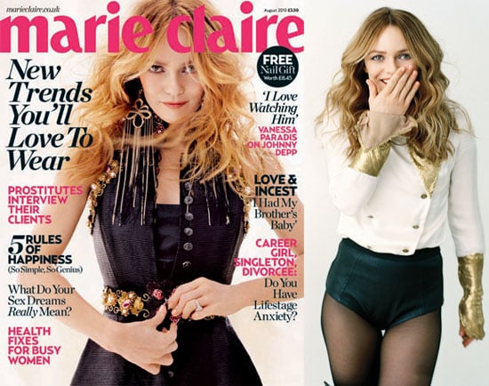 Vanessa Paradis Talks About Her Relationship With Johnny Depp And Her Kids In Marie Claire UK 2010-07-10 22:00:54