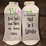 """""""Read Hair and Hand-Me-Down Robes . . . Must Be a Weasley"""" Socks"""