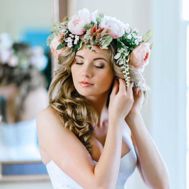 Wedding Hair With Flowers POPSUGAR Beauty