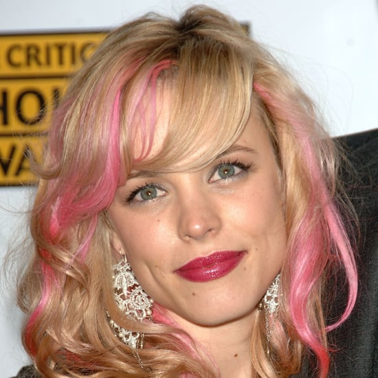 Remember Rachel's pink highlights in 2007? Her hot-pink lipstick only added to the cotton-candy look.