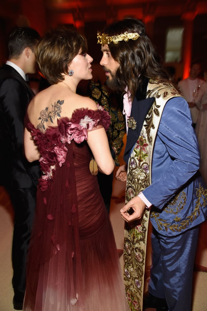 Jared Leto and Scarlett Johansson at the 2018 Met Gala