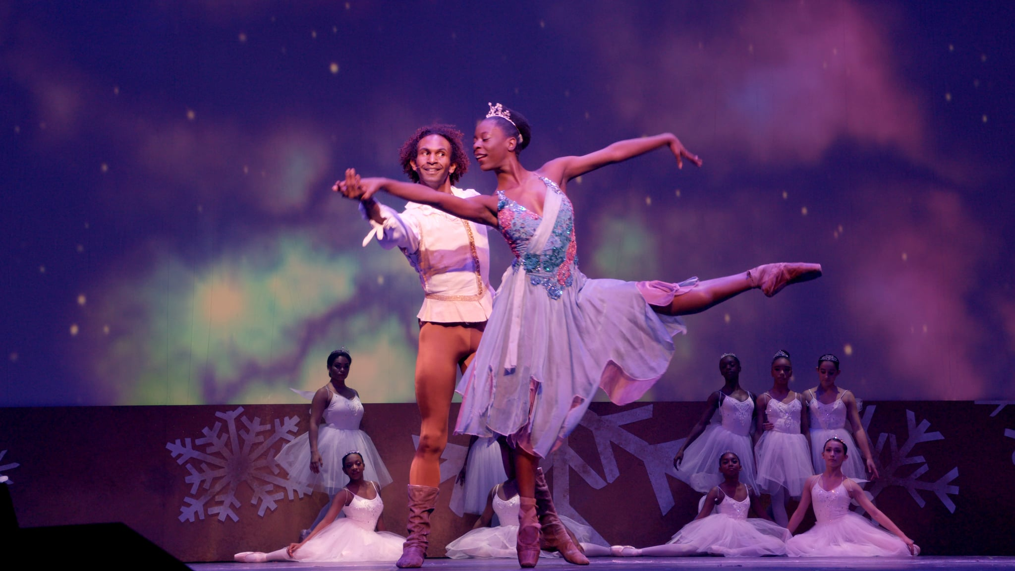 April Watson in Dance Dreams: Hot Chocolate Nutcracker. c. Courtesy of Netflix © 2020