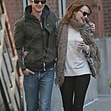 Emma Stone and Andrew Garfield took a loved-up NYC stroll.