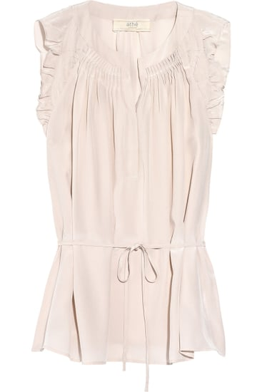 Vanessa Bruno Athé Ruffled Silk Top ($280)