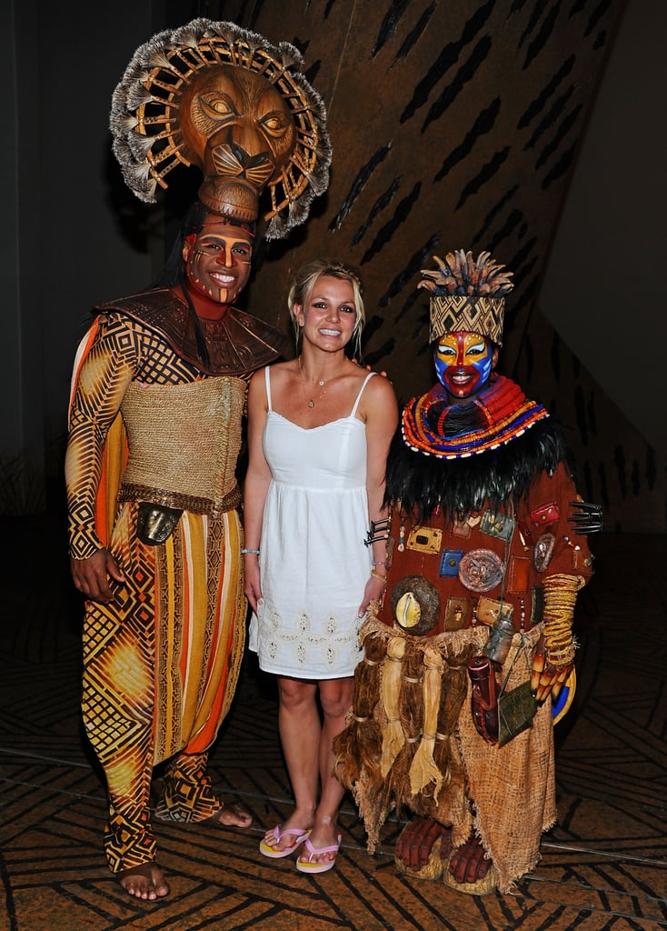 Pictures of Britney Spears, Sean Preston, and Jayden James at The Lion King in Vegas