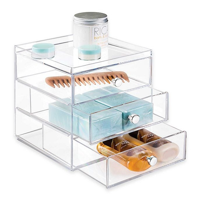 iDesign Luci 3-Drawer Organizer