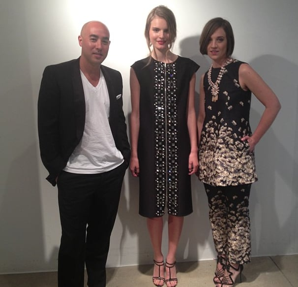 CFDA Swarovski nominees Max Osterweis and Erin Beatty of Suno struck a pose before heading to the awards.  Source: Instagram user Suno_NY