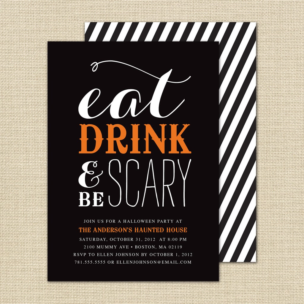 Eat, Drink, and Be Scary Invitation