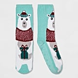 Women's Holiday Polar Bear Casual Socks
