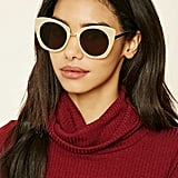 Forever 21 Mirrored Cat-Eye Sunglasses