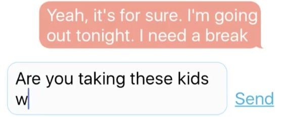 This Is What a Text Exchange Between a Mom and Dad Would Look Like Without Backspace