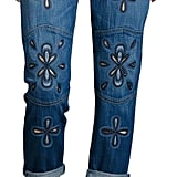Current/Elliott 'The Fling' Embroidery Jeans ($388)