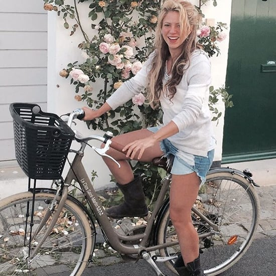 Shakira Riding a Bike in France Instagram Picture June 2016