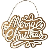 """Merry Christmas"" Hanging Wooden Sign"