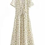 Goodnight Macaroon Adina Floral Print Wrap Top Maxi Dress