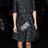 Keira Knightley headed out in London to the Chanel little black jacket dinner in a sweet evening LBD and, of course, a Chanel bag in tow.