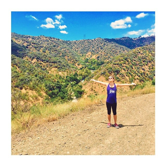 Lea Michele loves the peace and fresh air while hiking.