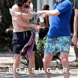 Kit Harington Hits the Beach, Gets His Six-Pack Poked, and Checks Out Women in Bikinis