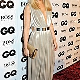 At the GQ Men of the Year Awards in September 2013, Suki gave the guys some serious glamour in a silver gown with smoky eye makeup.