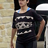 Camila Alves left a workout.