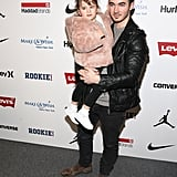 Kevin Jonas and Daughter Alena at New York Fashion Week 2017