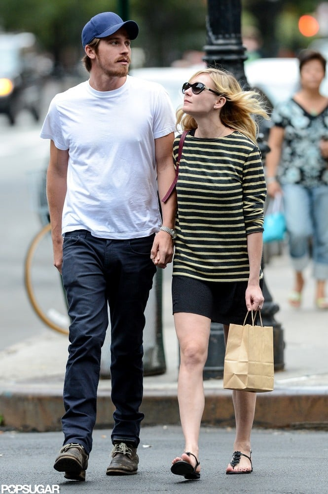 Kirsten Dunst and Garrett Hedlund were hand in hand in NYC.