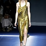 We think Naomi could pull off the slink of this Fall 2017 golden dress.