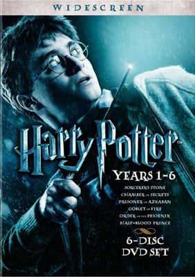 Harry Potter Years 1-6 DVD Gift Set ($50)
