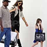 Katie Holmes and Suri Cruise had bags from a shop.