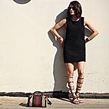 An LBD With Gladiator Sandals