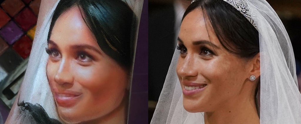 Meghan Markle Makeup Arm Portrait