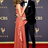 Jeffrey Dean Morgan and Hilarie Burton at the Emmys 2017