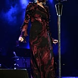Florence Welch was wondrous in Gucci for her performance in Florida.