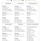 Download: Pig and Dac Daily Cleaning Schedule