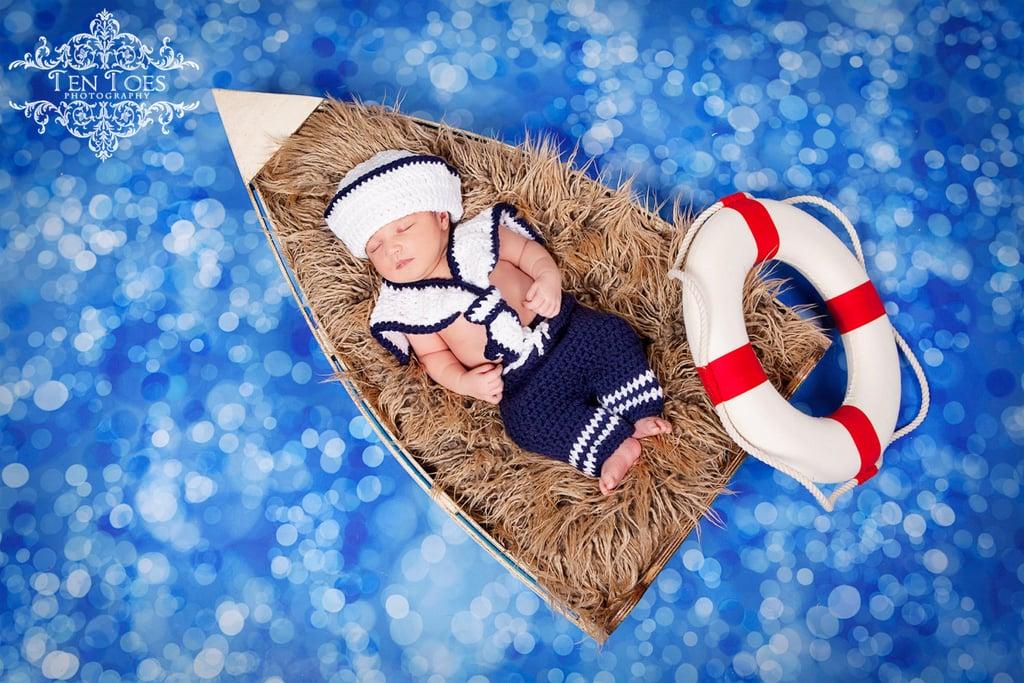 Crochet Newborn Nautical Sailor