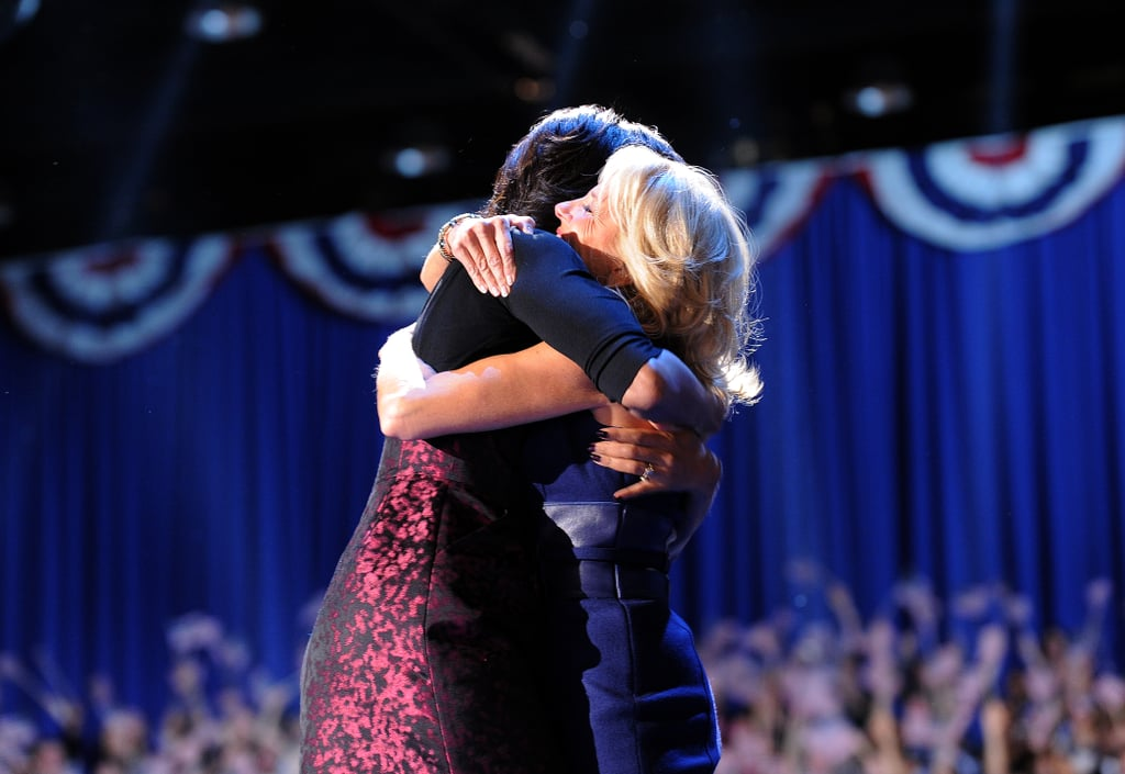 "Michelle Obama and Jill Biden have set up quite a badass friendship since their husbands took office together for the first time 12 years ago. The former first and second ladies spent plenty of time working side by side, from the campaign trail to speaking engagements at the White House. While Barack Obama and Joe Biden might be famous for their bond, Michelle and Jill's under-the-radar sisterhood is equally as sweet.  Over their two terms, Michelle and Jill were frequently photographed together. They joked and hugged and even shared an umbrella at Donald Trump's inauguration. Their friendship continues into 2020 as Michelle spoke during the Democratic National Convention on Aug. 17 in support of Joe's presidential campaign. Jill tweeted her friend a special message on the night of: ""Love you, MO❤️"" Michelle responded the next day, right before Jill made her own public appearance, with another cute note, ""Love you back, Jill. I can't wait to hear your speech. Good luck tonight!❤️""  These two! Take a trip down memory lane and catch up on a few of our favorite moments between Michelle and Jill in the photos ahead."