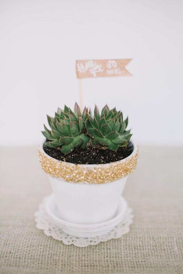 Glitter Plant Pot