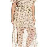 Glamorous Print Off-the-Shoulder Maxi Dress