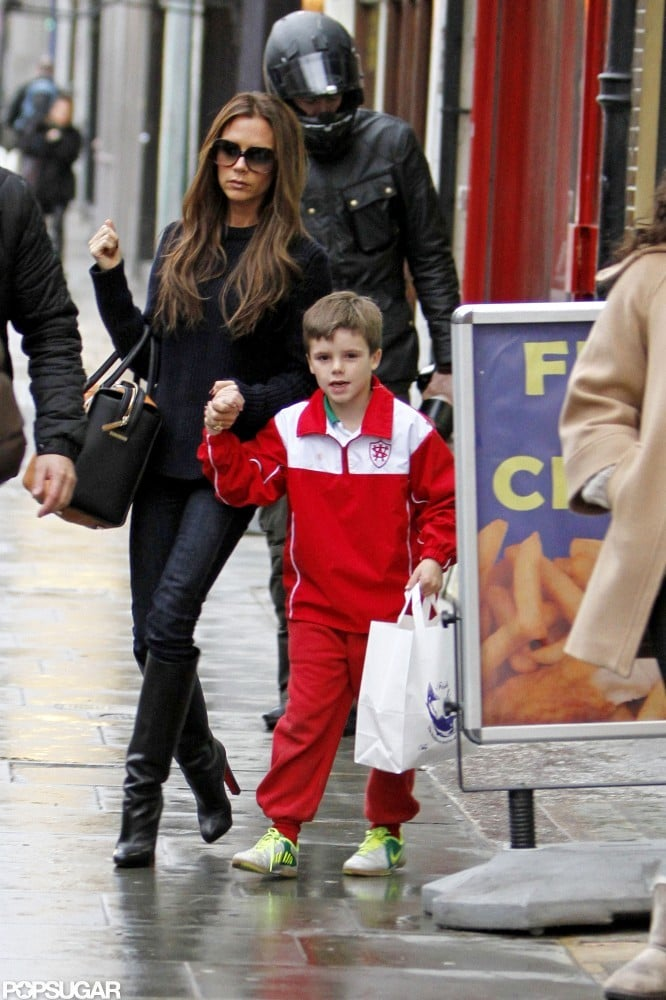 In January, Victoria Beckham took son Cruz out to fish and chips in Notting Hill, London.