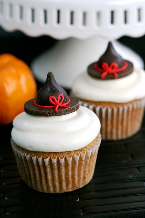 Pumpkin Witch-Hat Cupcakes