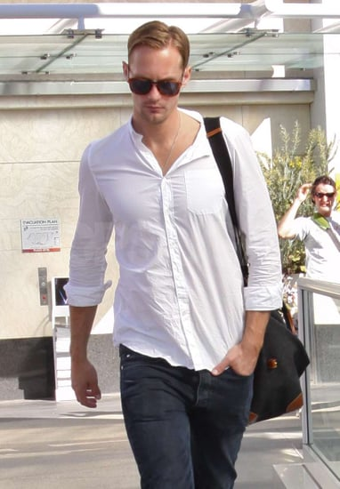 Pictures of Alexander Skarsgard Leaving the Gym in LA