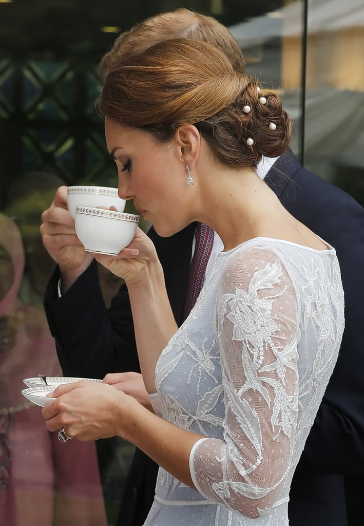 Kate Middleton's Pearl-Topped Bun, 2012