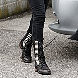 Would you wear studded lace-up boots á la Selena Gomez?