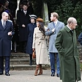 Meghan and William shared a friendly glance as they left the Church of St. Mary Magdalene in Sandringham on Christmas Day in 2017.
