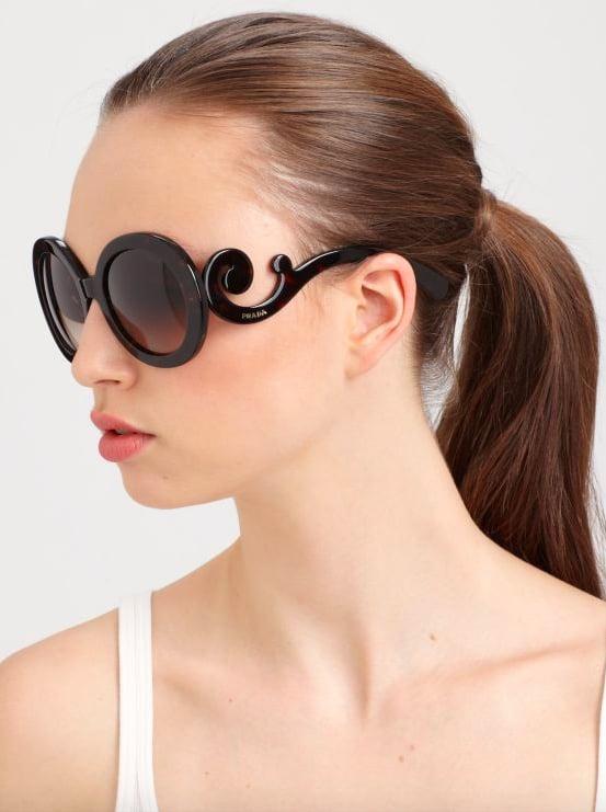 8d8f05b9bd09 Prada Baroque Round Sunglasses