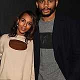 Kerry Washington and Nnamdi Asomugha at the If Beale Street Could Talk Screening in 2018