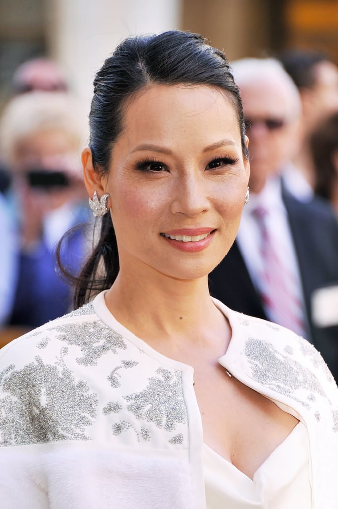Lucy Liu was in New York this week for the American Ballet Spring Gala. She opted for a side-parted ponytail, which she coupled with peachy-brown smoky eyes.