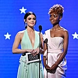 Lucy Hale and Ashleigh Murray at the Critics' Choice 2020