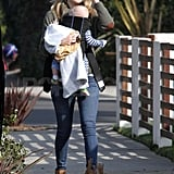 Kate Hudson with baby Bing in LA.